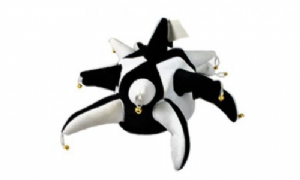 Black and White Jester Hat.